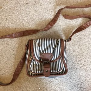 Striped crossbody purse